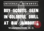 Image of American boy scouts Washington DC USA, 1937, second 2 stock footage video 65675063623