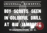 Image of American boy scouts Washington DC USA, 1937, second 3 stock footage video 65675063623