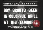 Image of American boy scouts Washington DC USA, 1937, second 4 stock footage video 65675063623