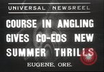 Image of angling course Eugene Oregon USA, 1937, second 1 stock footage video 65675063624