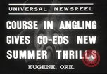 Image of angling course Eugene Oregon USA, 1937, second 2 stock footage video 65675063624