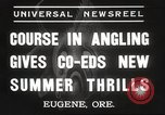 Image of angling course Eugene Oregon USA, 1937, second 3 stock footage video 65675063624
