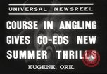 Image of angling course Eugene Oregon USA, 1937, second 4 stock footage video 65675063624