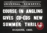 Image of angling course Eugene Oregon USA, 1937, second 6 stock footage video 65675063624