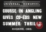 Image of angling course Eugene Oregon USA, 1937, second 7 stock footage video 65675063624