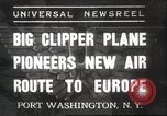 Image of Pan American Clipper New York United States USA, 1937, second 1 stock footage video 65675063625
