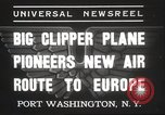 Image of Pan American Clipper New York United States USA, 1937, second 2 stock footage video 65675063625
