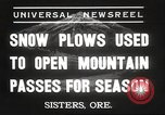 Image of Federal and State Highway Crew Sisters Oregon USA, 1937, second 2 stock footage video 65675063627