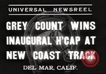Image of Inaugural Handicap Race Del Mar California USA, 1937, second 2 stock footage video 65675063628