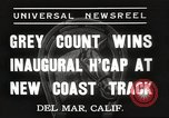 Image of Inaugural Handicap Race Del Mar California USA, 1937, second 3 stock footage video 65675063628