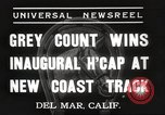Image of Inaugural Handicap Race Del Mar California USA, 1937, second 4 stock footage video 65675063628