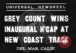 Image of Inaugural Handicap Race Del Mar California USA, 1937, second 5 stock footage video 65675063628