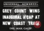 Image of Inaugural Handicap Race Del Mar California USA, 1937, second 6 stock footage video 65675063628