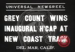 Image of Inaugural Handicap Race Del Mar California USA, 1937, second 7 stock footage video 65675063628