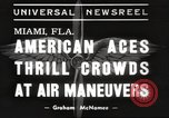 Image of air show Miami Florida USA, 1939, second 3 stock footage video 65675063631