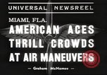 Image of air show Miami Florida USA, 1939, second 4 stock footage video 65675063631