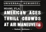 Image of air show Miami Florida USA, 1939, second 5 stock footage video 65675063631