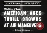 Image of air show Miami Florida USA, 1939, second 6 stock footage video 65675063631