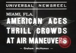 Image of air show Miami Florida USA, 1939, second 7 stock footage video 65675063631