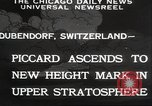 Image of Jacques Piccard Dubendorf Switzerland, 1932, second 5 stock footage video 65675063636
