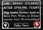Image of Amelia Earhart  United Kingdom, 1928, second 1 stock footage video 65675063647