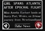 Image of Amelia Earhart  United Kingdom, 1928, second 5 stock footage video 65675063647