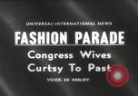 Image of Congress legislator's wives Washington DC USA, 1960, second 5 stock footage video 65675063689