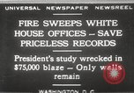 Image of fire at White House Washington DC USA, 1929, second 1 stock footage video 65675063697