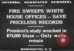 Image of fire at White House Washington DC USA, 1929, second 2 stock footage video 65675063697