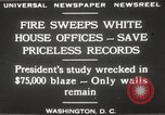 Image of fire at White House Washington DC USA, 1929, second 5 stock footage video 65675063697