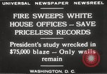 Image of fire at White House Washington DC USA, 1929, second 7 stock footage video 65675063697