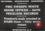 Image of fire at White House Washington DC USA, 1929, second 8 stock footage video 65675063697