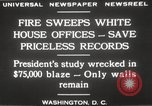 Image of fire at White House Washington DC USA, 1929, second 12 stock footage video 65675063697