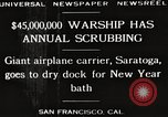 Image of USS Saratoga San Francisco California USA, 1929, second 2 stock footage video 65675063698