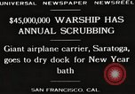 Image of USS Saratoga San Francisco California USA, 1929, second 5 stock footage video 65675063698