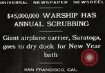 Image of USS Saratoga San Francisco California USA, 1929, second 6 stock footage video 65675063698