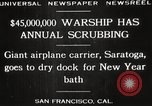 Image of USS Saratoga San Francisco California USA, 1929, second 9 stock footage video 65675063698