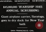 Image of USS Saratoga San Francisco California USA, 1929, second 10 stock footage video 65675063698