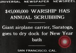 Image of USS Saratoga San Francisco California USA, 1929, second 11 stock footage video 65675063698