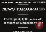 Image of Lumberman Aberdeen Washington USA, 1929, second 1 stock footage video 65675063699