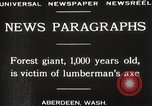 Image of Lumberman Aberdeen Washington USA, 1929, second 3 stock footage video 65675063699