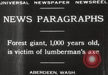 Image of Lumberman Aberdeen Washington USA, 1929, second 4 stock footage video 65675063699