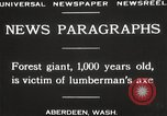 Image of Lumberman Aberdeen Washington USA, 1929, second 5 stock footage video 65675063699