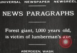 Image of Lumberman Aberdeen Washington USA, 1929, second 6 stock footage video 65675063699
