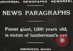Image of Lumberman Aberdeen Washington USA, 1929, second 7 stock footage video 65675063699