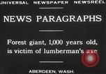 Image of Lumberman Aberdeen Washington USA, 1929, second 11 stock footage video 65675063699