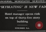 Image of Skating rink on rooftop Chicago Illinois USA, 1929, second 6 stock footage video 65675063701