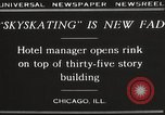 Image of Skating rink on rooftop Chicago Illinois USA, 1929, second 7 stock footage video 65675063701