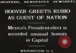 Image of Herbert Hoover Washington DC USA, 1929, second 11 stock footage video 65675063702