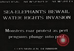 Image of Sea-elephants Copenhagen Denmark, 1929, second 2 stock footage video 65675063703